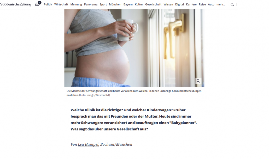 Baby Planner & Schwangerschafts-Concierge
